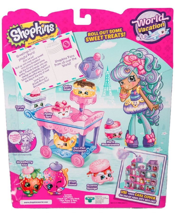Shopkins World Vacation Petite Sweets Collection Paris