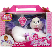 Puppy Surprise Plush - Tory and Her Pups White Purple