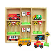 Fun Factory Wooden Toys - Cars and Traffic Signs (Australia) Boxed Set