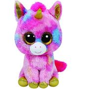 "Ty Beanie Boos Extra Large 25"" Fantasia the Multi Colour Unicorn Plush"