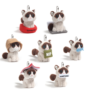 Gund Grumpy Cat Surprise Series 1 Plush Keyring - Choose from 4