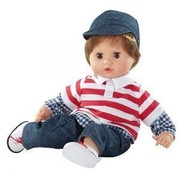 Götz Muffin With Brown Hair Baby Boy Doll 33cm Gotz