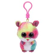 Ty Beanie Boos Clip Ons Rodney The Multicoloured Hamster Plush