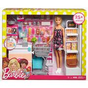 Barbie Supermarket with Blonde Doll Playset