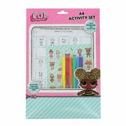 LOL Surprise A4 Activity Set, Stationery, stickers