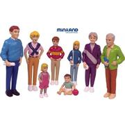 Miniland Educational European Family Figure Set