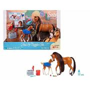 DreamWorks Spirit Riding Free Horse Feed and Nuzzle Set