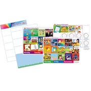 Monkey & Chops Magnetic Classroom Planner Board Teacher Aid schedule