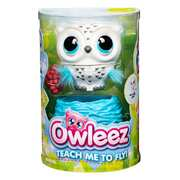 Owleez Owl Interactive Toy with Lights and Sounds - Pink or White