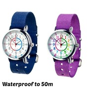 Ertt Easy Read Time Teacher Watch WATERPROOF -
