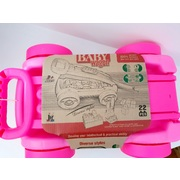 Enviro 100% Recycled Plastic Pull Along Pink Wagon with 22pc Blocks