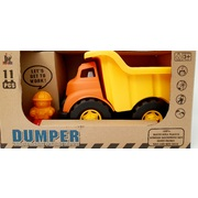Enviro 100% Recycled Plastic Dumper Truck with 11pc Blocks Construction Vehicle Series