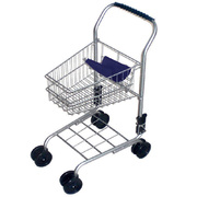 Kids Shopping Trolly Silver - Supermarket Cart Pretend Role Play Toy