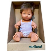 Miniland Educational Baby Doll Caucasian Down Syndrome Boy 38 cm Brunette