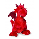 Nici Dragon Red Standing Plush Medium 30 cm