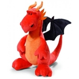 Nici Dragon Orange Sitting Large Plush 45 cm