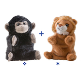 Wild Republic Switch A Rooz Plush - Gorilla/Lion Boomer & Roary