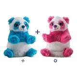 Wild Republic Switch A Rooz Plush - Panda Bears Ying & Yang