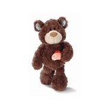 Nici Classic Bear Brown with Fish 35 cm Plush