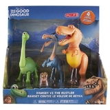 Disney Pixar The Good Dinosaur Arlo, Spot, Ramsey vs The Rustler Action Figure 4-Pack