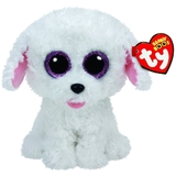"TY Beanie Boos Regular 6"" - Pippie The White Dog plush"
