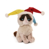 A Li'l Grumpy Cat Court Jester Beanie 13 cm licensed  by Gund