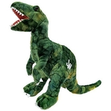 Jurassic World Plush Dinosuar 35 cm - Raptor Delta Green