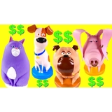 Secret Life of pets Coin bank - Choose from 4 characters (Mel, Max, Chloe)